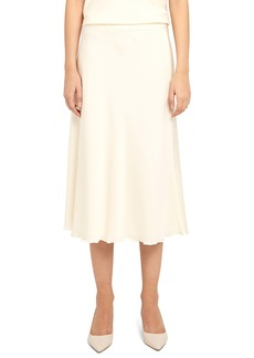 Theory Lettuce Edge Stretch Silk Skirt