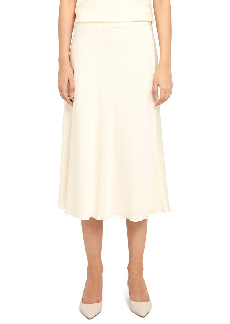 Theory Lettuce Edge Stretch Silk Skirt
