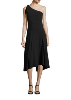 Theory Liberik One-Shoulder Crepe Dress