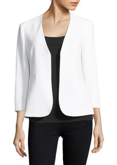 Theory Lindrayia Three-Quarter-Sleeve Open-Front Jacket