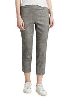 Theory Linen-Blend Crop Pants