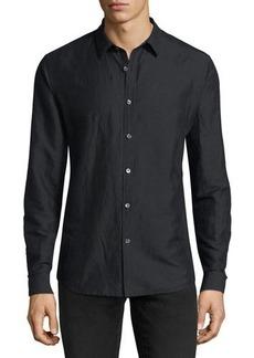 Theory Linen-Blend Long-Sleeve Sport Shirt