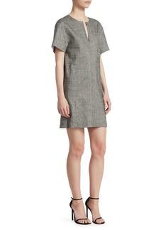 Theory Linen-Blend Shift Dress