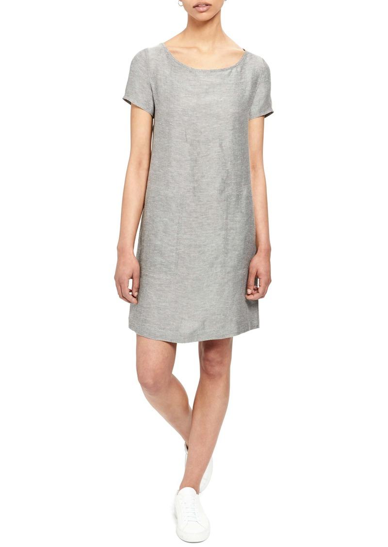 Theory Linen Blend Shift Dress