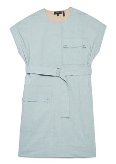 Theory Linen Blend Utility Dress