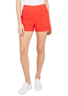Theory Linen Blend Utility Shorts