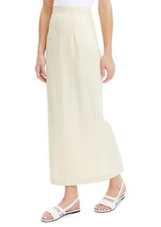 Theory Long Linen Pencil Skirt