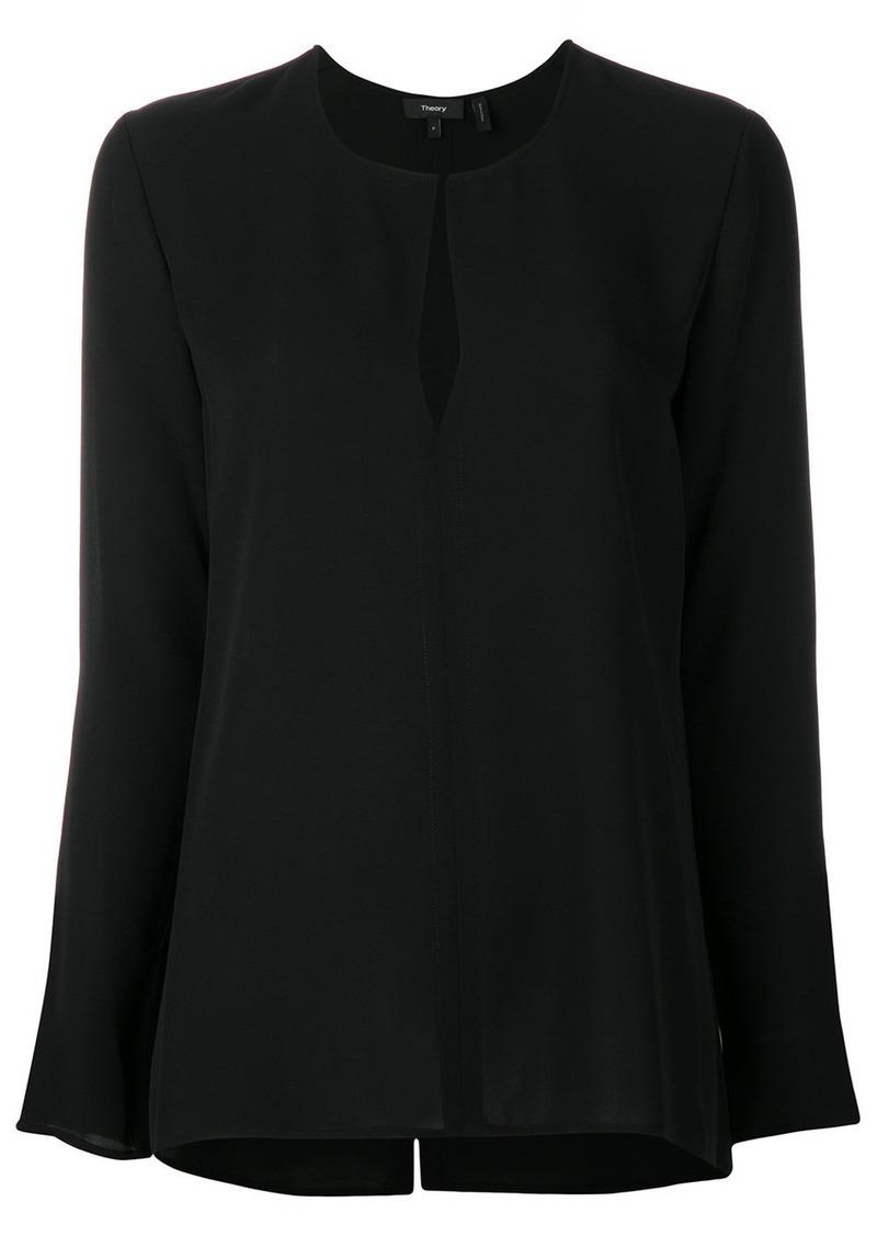 Theory long sleeve blouse