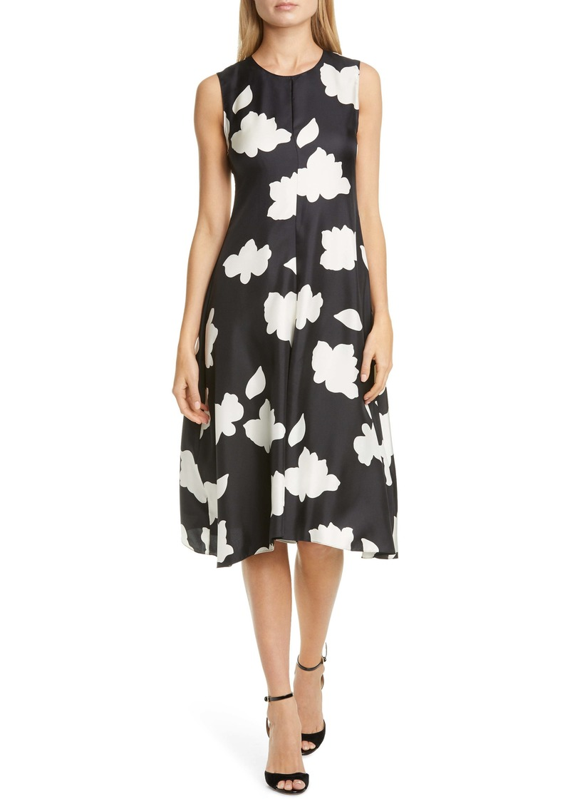 Theory Nophella Drop Waist Silk Dress