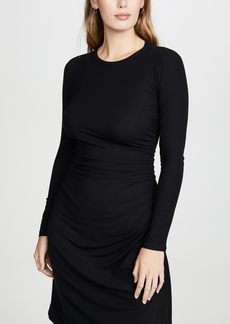 Theory Long Sleeve Gathered Waist Dress