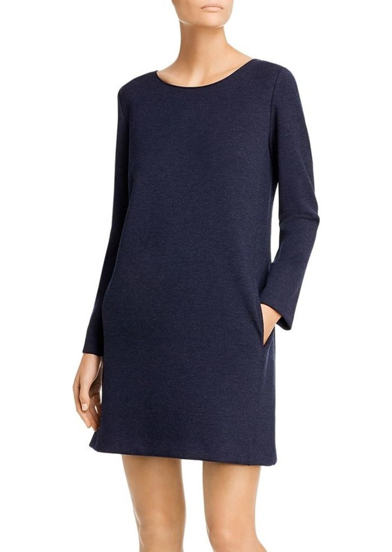 Theory Long-Sleeve Knit Shift Dress