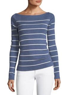 Theory Long-Sleeve Merino Wool Sweater