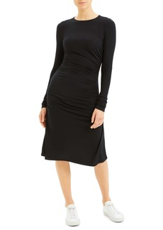 Theory Long Sleeve Ruched Dress