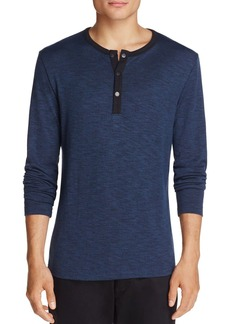 Theory Long Sleeve Snapped Henley