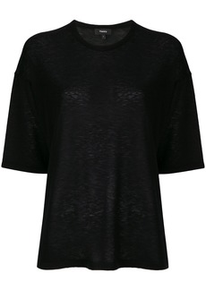 Theory loose fit knitted top - Black