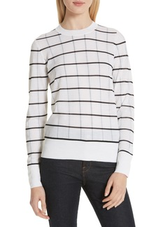 Theory Lory Sheer Grid Sweater