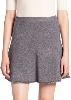 Theory Lotamee Frayed Knit Skirt