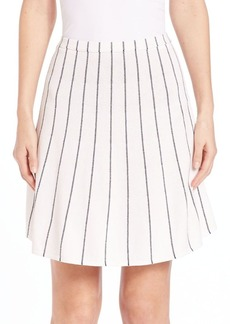 Theory Lotamee P. Prosecco Stripe Skirt