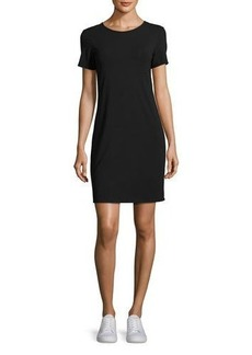 Theory Luchia Twist-Back Rubric Jersey T-Shirt Dress