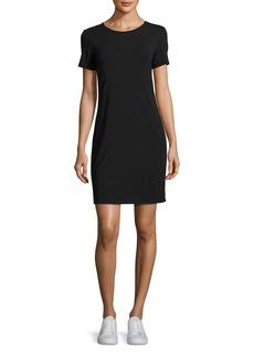 Theory Luchia Twist-Back Rubric Jersey T-Shirt Dress