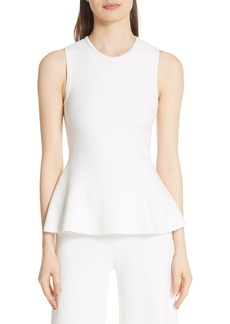 Theory Lustrate Classic Peplum Top