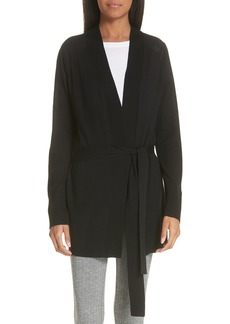 Theory Malinka R Refined Wool Tie Waist Cardigan