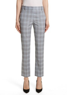 Theory Maple Check 2 Straight Crop Trousers