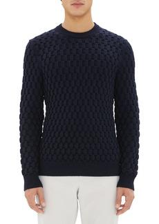 Theory Marcos Honeycomb Merino Wool Sweater