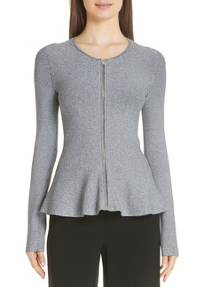 Theory Marl Peplum Jacket