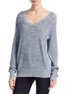 Theory Marl Pointelle Pullover