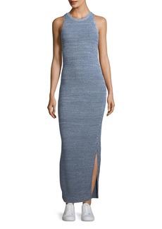 Theory Marl Pointelle Sleeveless Tank Maxi Dress