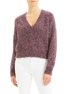 Theory Marl V-Neck Sweater