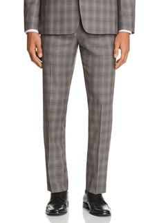 Theory Marlo Tonal Check Plaid Slim Fit Suit Pants