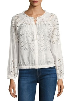 Theory Maryana Cotton Eyelet Blouse