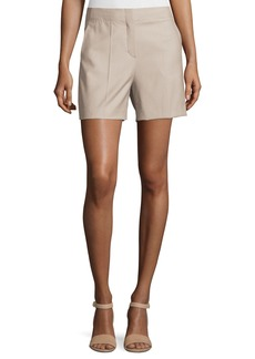 Theory Masibeth Continuous Wool-Blend Shorts