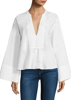 Theory Matara Popcorn Cotton Blouse