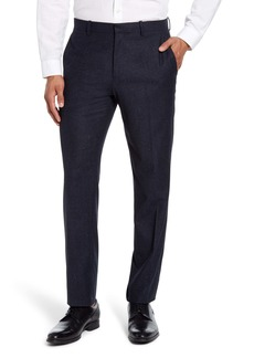 Theory Mayer Bowen Slim Flecked Wool & Silk Dress Pants