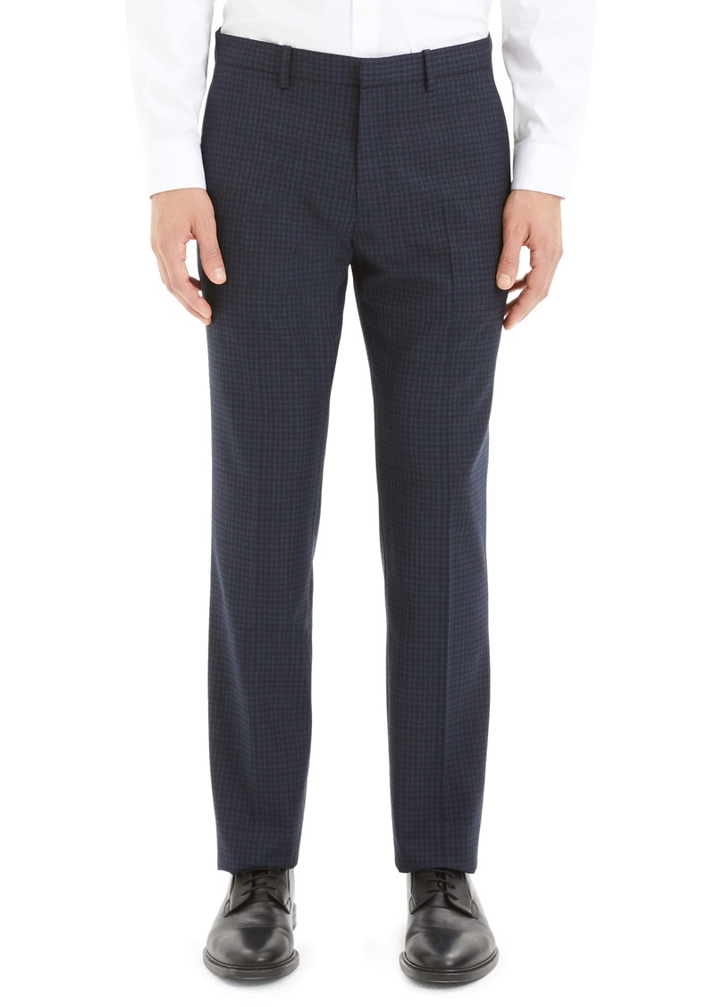 Theory Mayer Thur Check Wool Dress Pants