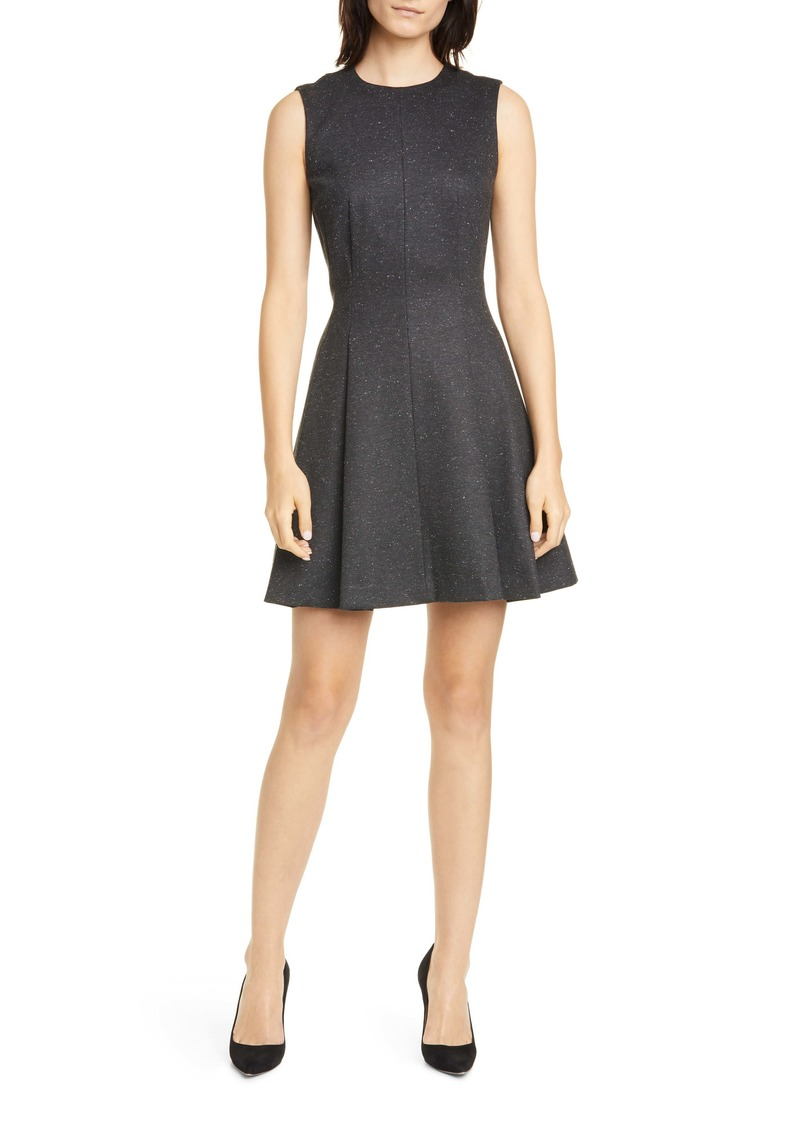 Theory Mela Seamed Sleeveless Fit & Flare Dress