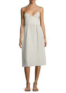 Theory Melaena B Striped Linen Dress