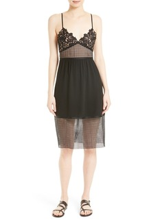 Theory Melaena Crepe & Lace Dress