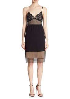 Theory Melaena Elevate Crepe & Lace Dress