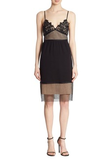 Theory Melaena Elevate Crepe & Lace Dress