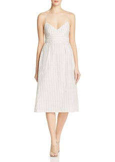 Theory Melaena Striped Linen Dress