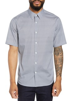 Theory Menlo Halldale Slim Fit Stretch Short Sleeve Sport Shirt