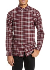 Theory Menlo Standard Fit Plaid Sport Shirt