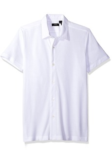 Theory Men's Aden S Air Pique Short Sleeve Button Front