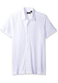 Theory Men's Aden S Air Pique Short Sleeve Button Front