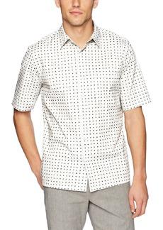 Theory Men's Bruner Dot Print Short Sleeve Woven  S