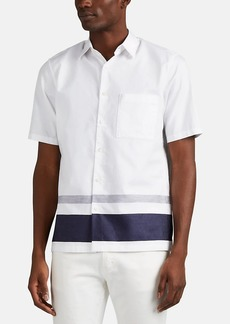 Theory Men's Bruner Striped Cotton Shirt